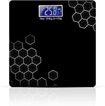 DEETTO Electronic Thick Tempered Glass and LCD Display Digital Personal Bathroom Health Body Weighting Scale for Human Body (SQURE-Shape)