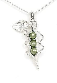 silver peas in a pod necklace