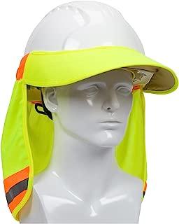 EZ-Cool 396-800-YEL Hi-Vis Hard Hat Neck Sun Shade With Visor, Large, Yellow