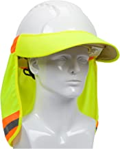 EZ-Cool 396-800-YEL Hi-Vis Hard Hat Neck Sun Shade With Visor, Large, Yellow