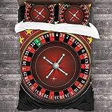 GTGTH Biancheria da Letto Duvet Cover Set Roulette Wheel Game Compass 3 Piece Bedding Set ...
