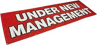 4Less 3x10 Ft Under New Management Banner Vinyl Alternative Sign Fabric rb