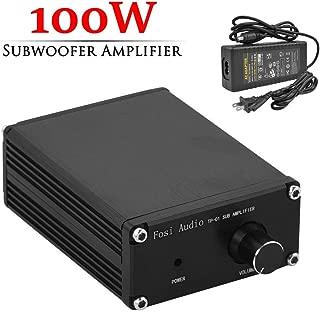 Subwoofer Amplifier Receiver 100Watt Mini Hi-Fi Digital Class D Integrated Stereo Audio Amp for Sub Bass + Power Supply TP-01