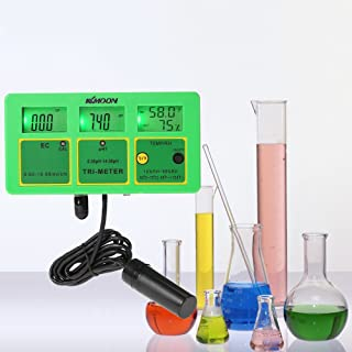 KKmoon Water Quality Tester, Professional pH RH EC-213 Temp Multiparameter Water Quality Tester 4in1 Digital LCD Tri-Meter Multi-Function