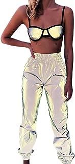 elastic hem luminous pants