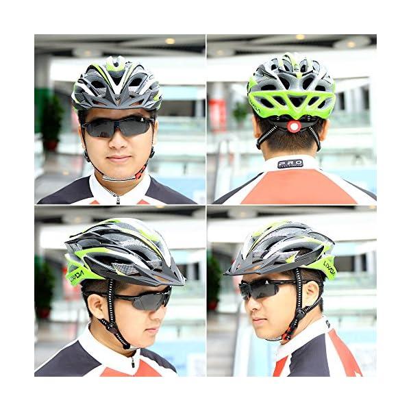 Lixada Casco Ciclismo Ajustable Ultraligero Dise/ño Moldeado Integral con 25 Ventilaciones para MTB Carretera Bicicleta