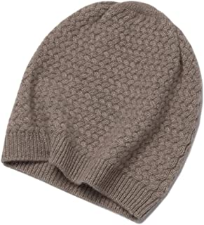 Graceful Autumn and Winter Cashmere Knitted Hat, Fashionable Women's Hat, Warm and Comfortable Cashmere Hat (Color : Brown)