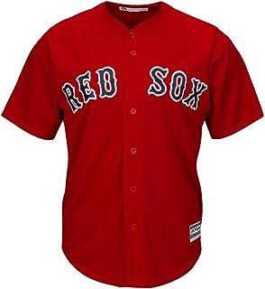 Majestic Athletic Boston Red Sox Cool Base MLB Replica Jersey Scarlet Baseball Trikot tee T-Shirt