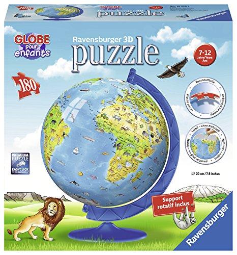 Ravensburger – 12339 – 3D puzzel wereldkaart XXL 180-delig