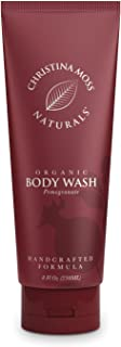 Body Wash - Body Soap - Made With Organic & Natural Ingredients - Body Cleanser For Women & Men - Soothing, Non Itch - Bath & Shower - No Harmful Chemicals - 8oz, Pomegranate - Christina Moss Naturals