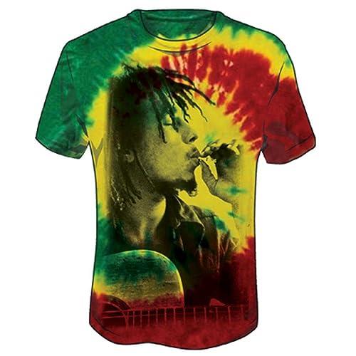 495fbdf2b9 Bob Marley Men's Rasta Smoke Tie Dye T-Shirt