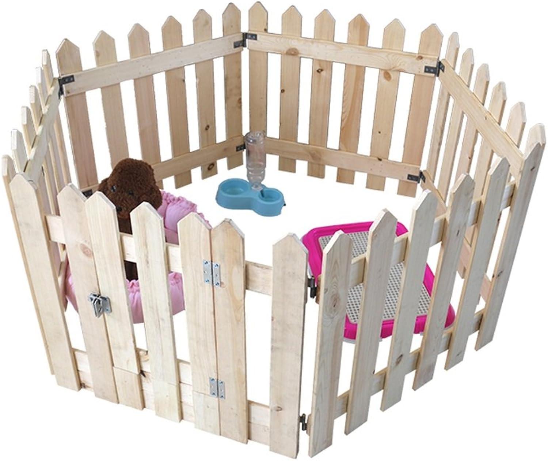 Extra Large Dog Playpens Indoor Outdoor For Medium Dog, Black Wooden Pet Fence House, Modular Box Kennel 6 Panel (Size   M 1407080cm)