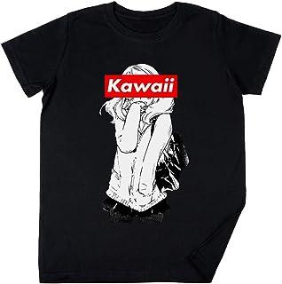 Vendax Kawaii - Anime Niños Chicos Chicas Unisexo Camiseta Negro