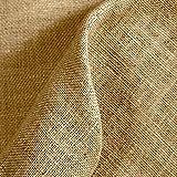 Kt KILOtela Tela por Metros de arpillera/Saco - Yute - Manualidades, Costura - Ancho 147 cm - Largo a elecció por m | Color Natural