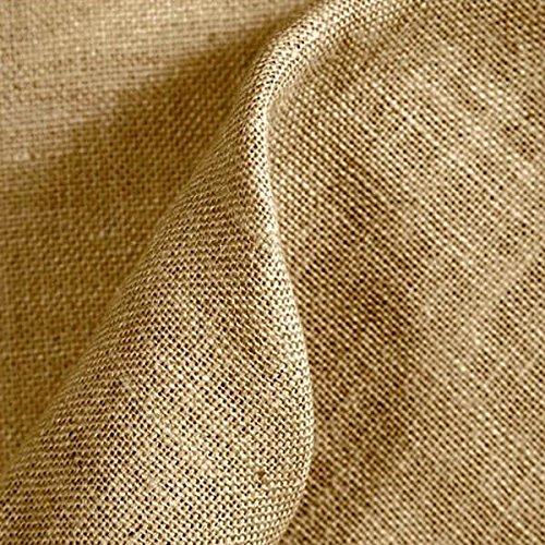 Kt KILOtela Tela de arpillera/Saco - Yute - Manualidades, Costura - Retal de 50 cm Largo x 147 cm Ancho | Color Natural ─ 0,5 Metro