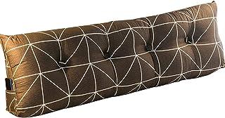 Almohadas de cuña de Respaldo de Lectura con Soporte Triangular Grande para cabecera Cojín de cuña Triangular Lavable a máquina (Color : Black, Size : 140 * 50CM)