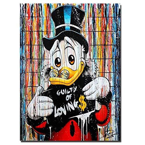 WOMGD® Donald Duck leespuzzel, houten puzzels 1000 stukjes, educatief spel Moeilijke uitdagingspuzzel voor kinderen Volwassenen