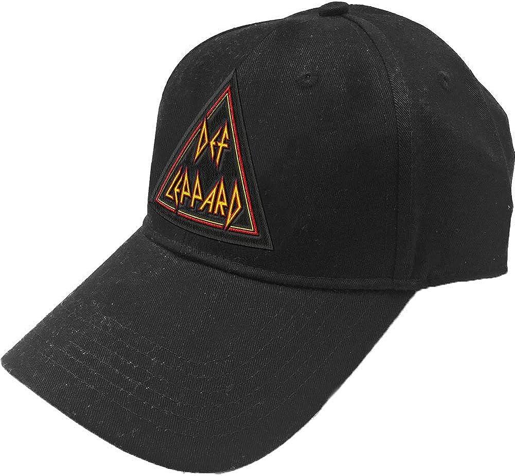 Def Leppard Unisex Tri Logo Black Baseball Cap