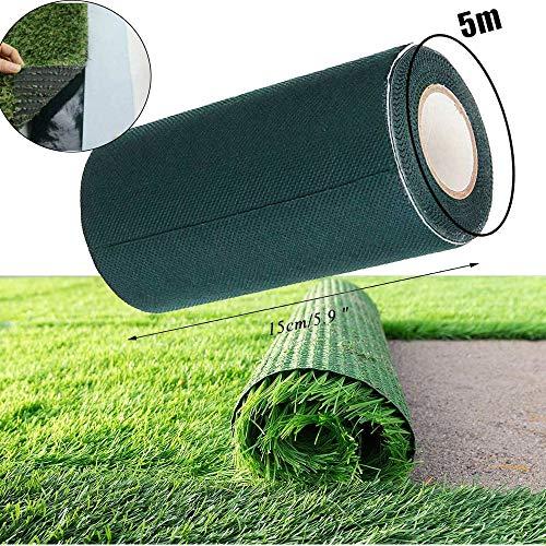Kunstrasen Nahtband Doppelseitig,Artificial Grass Tape,Kunstrasen Klebeband Doppelseitig (15CM*5M)