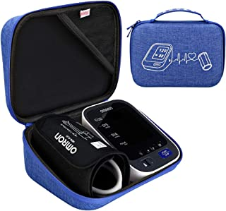 BOVKE Carrying Case Travel Bag for Omron 10 Series BP785N / BP786 / BP786N Wireless Bluetooth Upper Arm Blood Pressure Monitor with Cuff,Blue