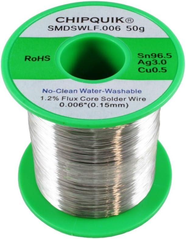 Chip Quik SMDSWLF.006 50g LF Some reservation Solder Wire favorite C 96.5 0.5 3 Silver Tin