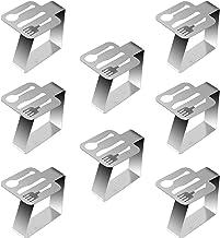 EQLEF Fermatovaglia Acciaio Morsetti per Tavolo in Acciaio Inossidabile Supporti per tovaglie in Metallo per Cucina Domestica Festa di Nozze Picnic 4 Pezzi