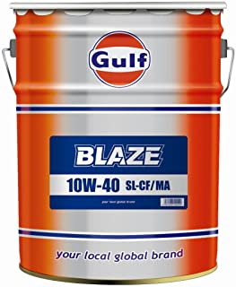 Gulf [ ガルフ ] Gulf BLAZE [ ガルフBLAZE ] 10w40 [ SL-CF・MA ] 鉱物油 [ 20L ] [HTRC3]