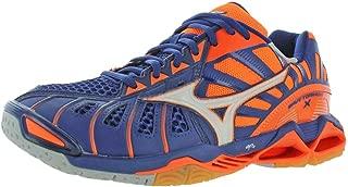 MIZUNO V1GA161273 Wave Tornado X Men's Volleyball Shoes, Orange Clown Fish/White/Blue Depth