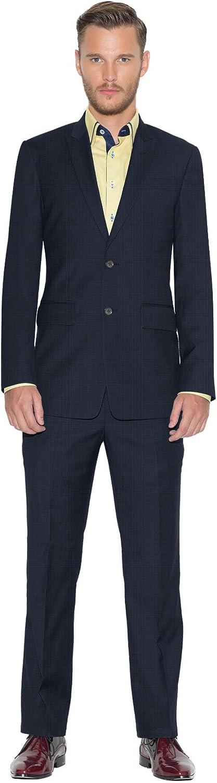 iTailor Men's Vintage 2-Button Peak Lapel Suit Light Navy 60 Long