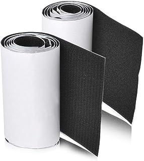 MARCHONE 11cm Ancho 1 metros largo Juego sistema de enganche y sujeción auto adhesivo con reverso súper adherente Tela de nylon sujetadora Negro