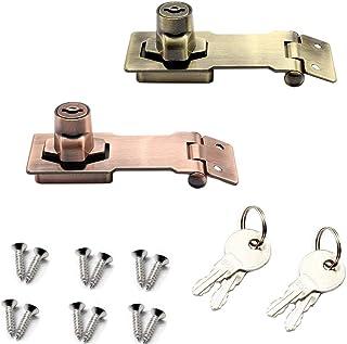 finitura dorata diametro barra 16 mm Sayayo EMS8000-G non include lucchetto Serratura per cancello scorrevole con foro per lucchetto resistente acciaio inox SUS304 lunghezza 150 mm