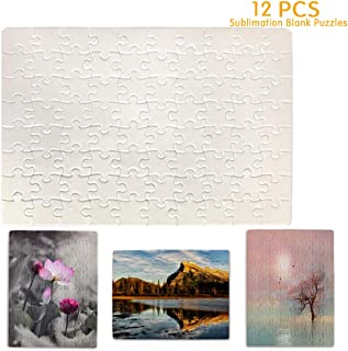 """Puzzle 80-Pieces (12-Pack) Sublimation Blank Puzzles DIY Blank Jigsaw Puzzles, 9.4"""" X 7.5"""""""