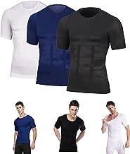 2-delig SecondSkin Heren Shaper Verkoelend T-shirt, Heren Shaper Afslankend Compressie T-shirt, Voor Sport En Fitness Hard...