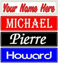 Custom Name Patch Embroidered Iron On/Sew On