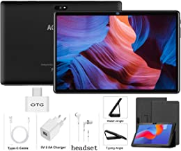 Tablet 10 Pulgadas Android 9.0 4G LTE【2020 Certificación Google GMS】 Tablets 3GB RAM+32GB ROM/128GB Escalable Quad-Core Dual SIM 8000mAh GPS Type-C 5.0+8.0MP -Negro