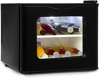 comprar comparacion Klarstein Winehouse Minibar - Vinoteca, Nevera de bebidas y tentempiés, 17L, LED, Silenciosa, Temperatura de 8 a 18 °C, Ba...