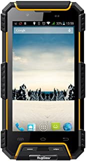 RugGear RG702 Rugged Cell Phone Unlocked IP68 Waterproof Smartphone (Yellow)