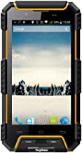 RugGear RG702 Rugged Cell Phone Unlocked IP68 Waterproof Smartphone (Yellow)