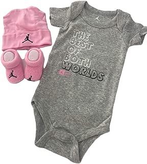 Michael Jordan Infant Layette 3 Pcs Sets Bodysuit Cap and...