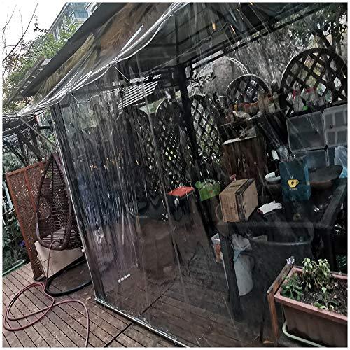 Lonas Transparente Impermeable, Lonas Plástico Pvc Con Ojales, Protección Contra El Frío A Prueba De Viento, Sin Empalmes, El Tamaño Se Puede Personalizar, 400 G / M²(Talla:2M×4M)