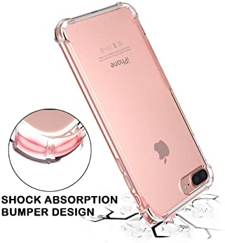 for iPhone 7 Plus Case, for iPhone 8 Plus Case, Matone Crystal Clear Shock Absorption Technology Bumper Soft TPU Cove...