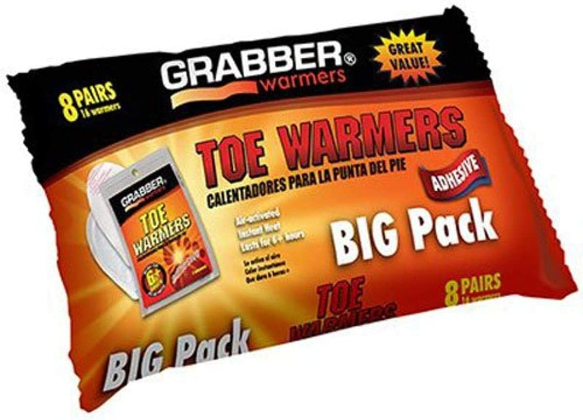 GRABBER WARMERS Toe Warmer Big x Ranking TOP8 25% OFF 8-Pack 9 4.5-Inch Pack