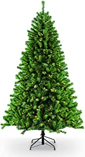 Puleo International 9 Foot Pre-Lit Northern Fir Artificial Christmas Tree with 1,000 Clear Lights, Green