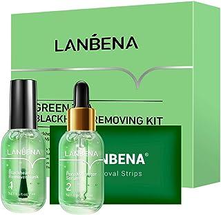 Blackhead Remover, LANBENA Blackhead Removing Kit, 3 in 1 Green Tea Oil Blackhead Removal Kit, 100 Pcs Blackhead Remover M...