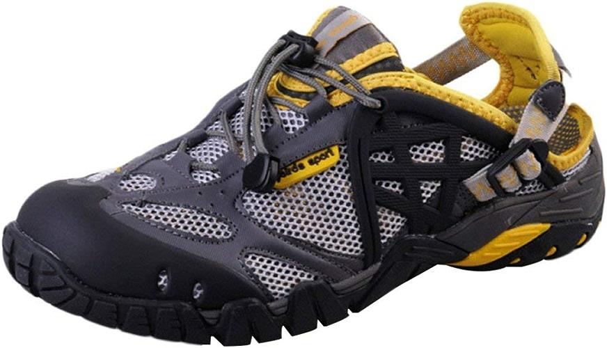 DSX Chaussures Imperméables Neutres Randonnée en Plein Air Escalade Sandales Sport Course Chaussures de Gué, Jaune, 41EU