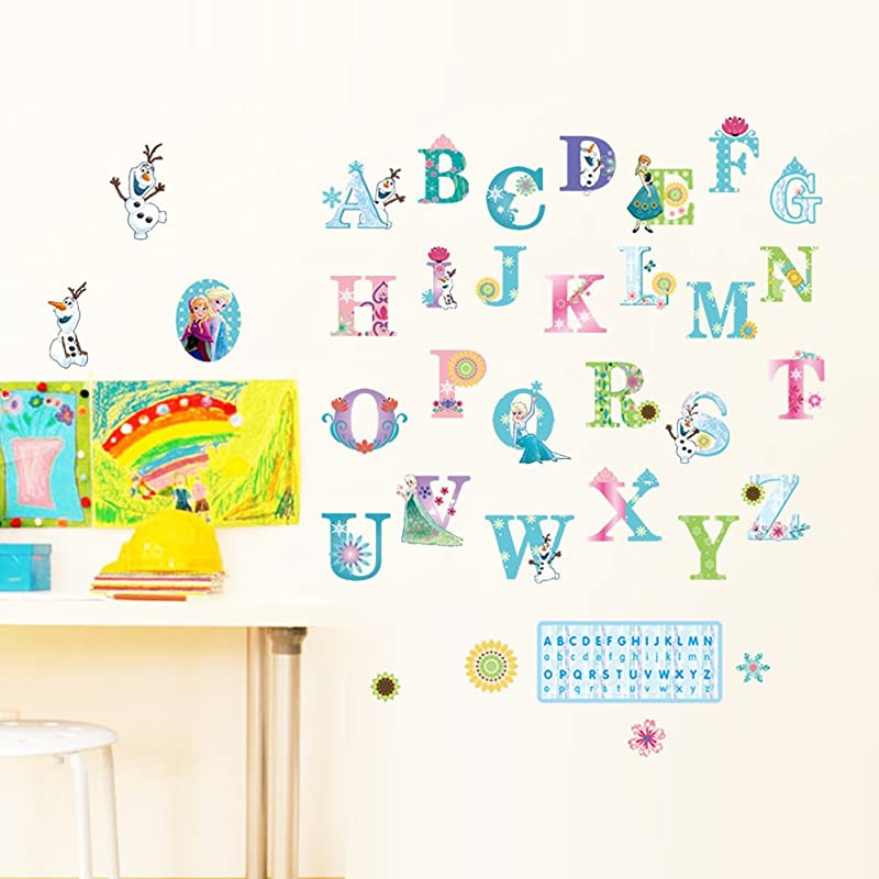 Decorstyle Alphabet Wall Decals Baby And Toddler Wall Decor Fun Abc Wall Stickers For Nursery And Kids Rooms Princess