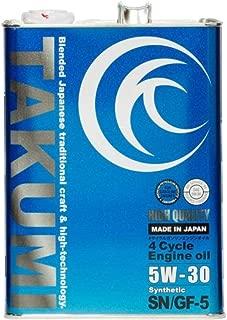 エンジンオイル 4L 5W-30  化学合成油HIVI TAKUMIモーターオイル