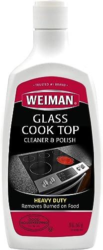 Weiman Glass Cooktop Cleaner & Polish - Heavy Duty, No Scratch, Glass-Ceramic Safe, Non-Abrasive - 20 Fl. Oz.