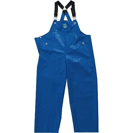 水産マリンレリー 胸付ズボン Lサイズ 花紺 漁師のための専用合羽