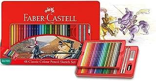 Faber-Castell PL115849 48-Pieces Classic Colour Pencil Sketch Set